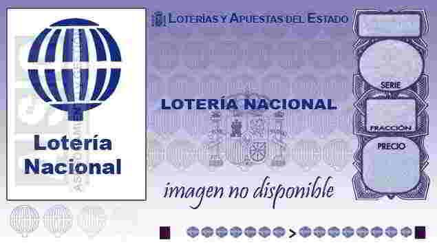 Décimo de Lotería con el número 72301